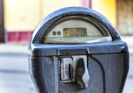 Crisp close shot of a reset parking meter