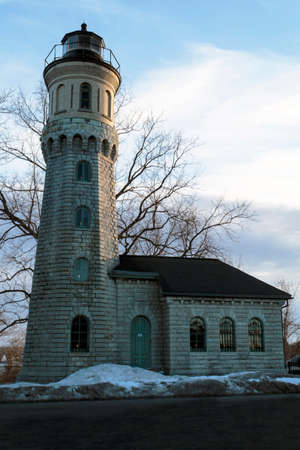 Full view of historic Fort Niagara lighthouse   photo