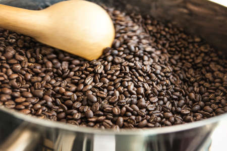 cooling: cooling roasted beans Stock Photo