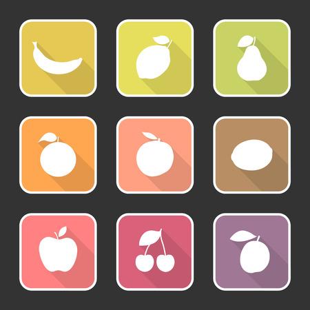 no1: Fruit Flat Icons No.1 Illustration