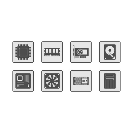 pc case: Computer Hardware Web Icons
