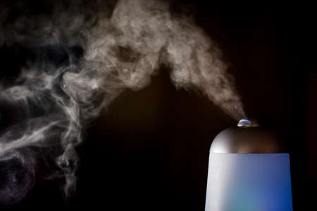 Essential oils being diffused into the air.