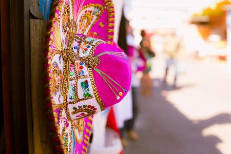 メキシコでピンク ソンブレロ。
