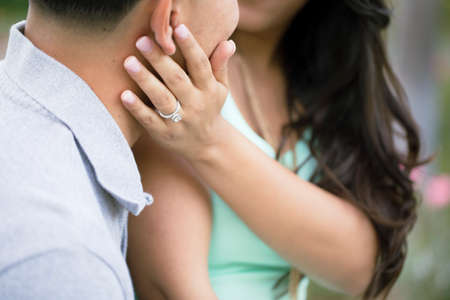 A couple is newly engaged.