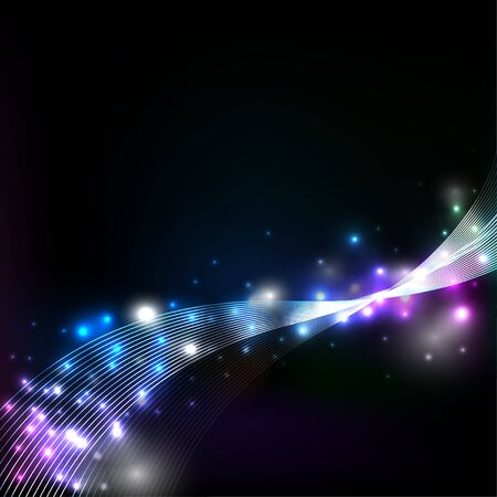shinning: Galaxy and glamour background vector, with shinning star and faded way