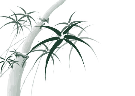 chinese bamboo: Vector chinese bamboo painting background