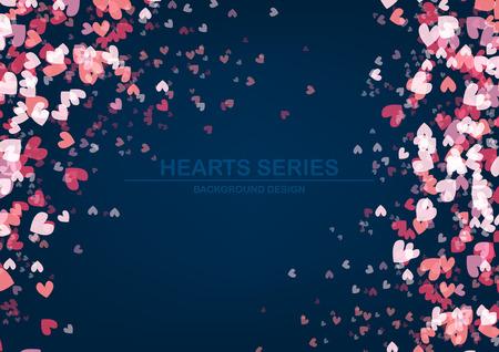Vector illustration heart background design