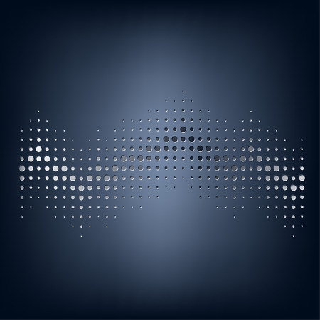 azul marino: Vector abstract staved dot in navy blue background