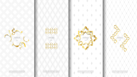 Packaging exotic Thai pattern element concept white vintage background and logo vector design, inclusive of pattern swatch