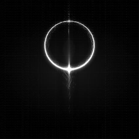 Technological futuristic intelligent sparkling dark abstract background vector design