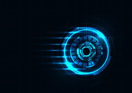 Technology abstract futuristic virus detector interface background vector design Vektorové ilustrace