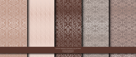 luxury abstract pattern collection texture background template vector design, inclusive of seamless swatch