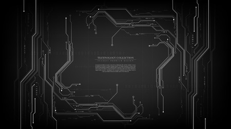 Technology futuristic abstract grey circuit connection background vector design