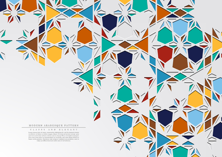Modern arabesque triangular classic pattern background template vector design