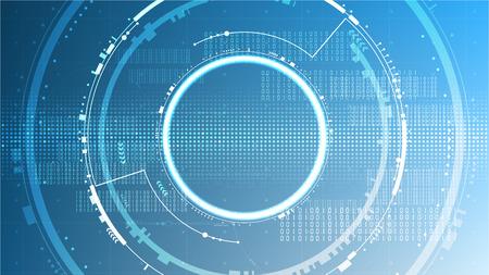 Tecnología futurista sistema abstracto ciberespacio plantilla de fondo copia espacio diseño vectorial Ilustración de vector