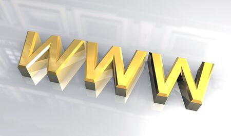WWW in gold (3D) Stock Photo - 3205342