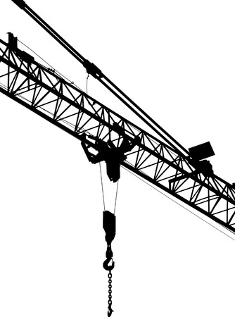 construction crane: vector illustration construction silhouette construction crane
