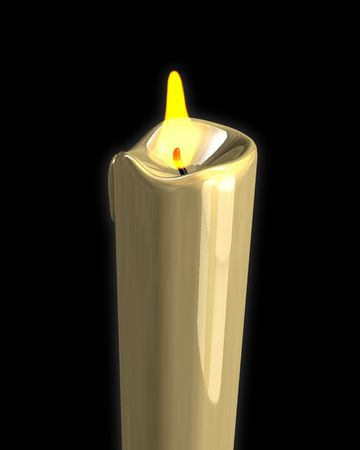 3D soft glowing candle light photo