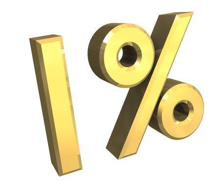 1 percent Stock Photo - 3923854