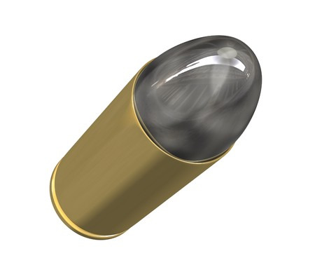 millimetres:  bullet (3D) Stock Photo