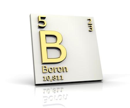 boron: Boron from Periodic Table of Elements Stock Photo
