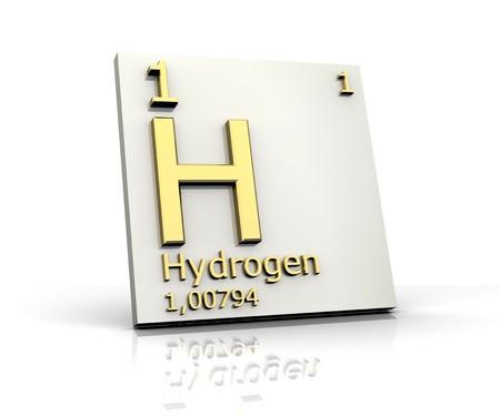 Wasserstoff-Form Periodensystem der Elemente Standard-Bild - 4296428