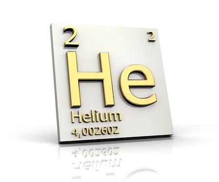 Helium-Form Periodensystem der Elemente Standard-Bild - 4296435