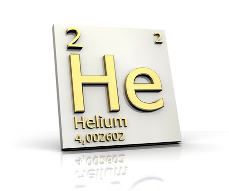 Helium form Periodic Table of Elements Stock Photo