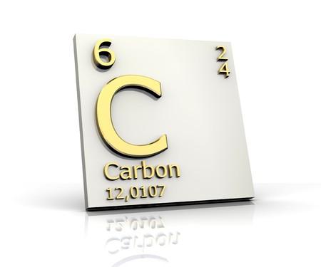 periodic: Carbonio sotto forma Tavola Periodica degli Elementi Archivio Fotografico