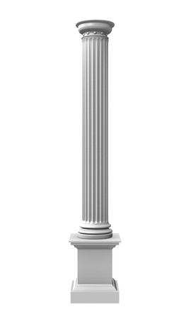 3d rendered illustration of a white column