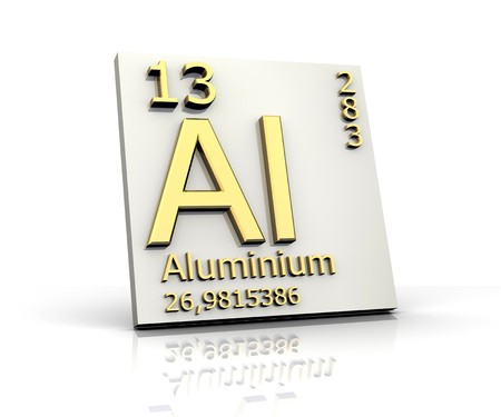 Alluminio forma Tavola periodica degli elementi Archivio Fotografico