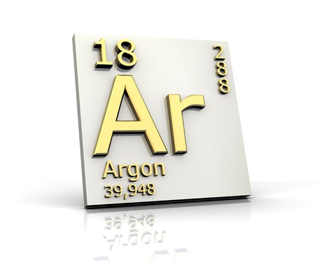 Argon form Periodic Table of Elements Stock Photo - 4315559