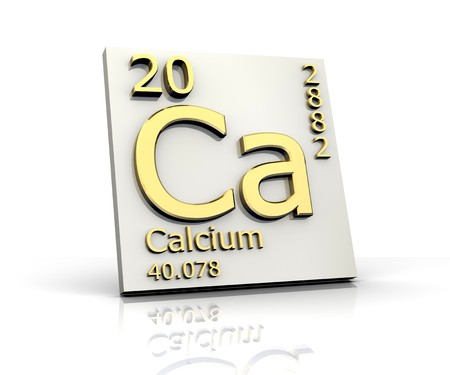 Calcium form Periodic Table of Elements Stock Photo