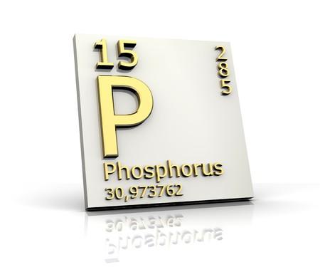 Phosphorus form Periodic Table of Elements Stock Photo - 4315566