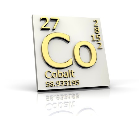 Cobalt form Periodic Table of Elements Stock Photo