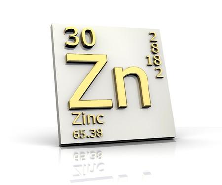 Zink Form Periodensystem der Elemente Standard-Bild - 4315562