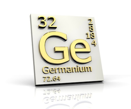 Germanium form Periodic Table of Elements Stock Photo