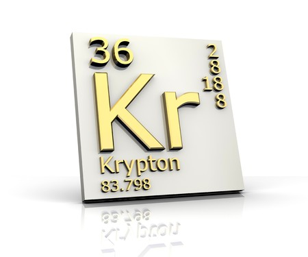 Krypton form Periodic Table of Elements Stock Photo