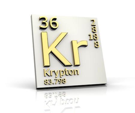 periodic element: Krypton form Periodic Table of Elements Stock Photo