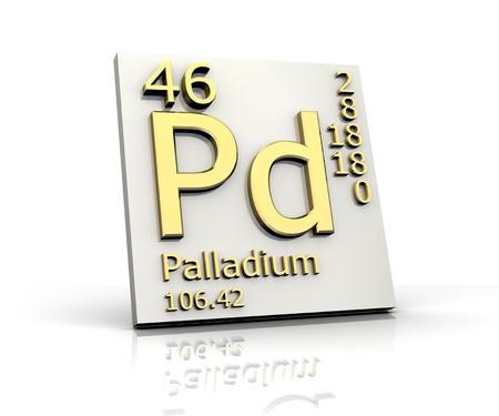 Palladium form Periodic Table of Elements Stock Photo - 4315583