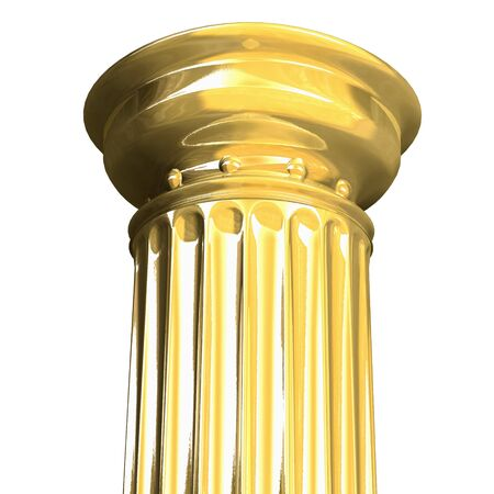 gold standard: 3d rendered illustration from a part of a gold column