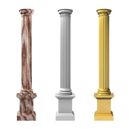 gold standard: 3d rendered illustration of three columns
