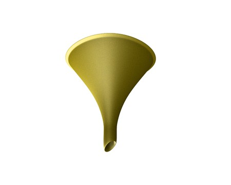 Yellow Funnel Stock Photo
