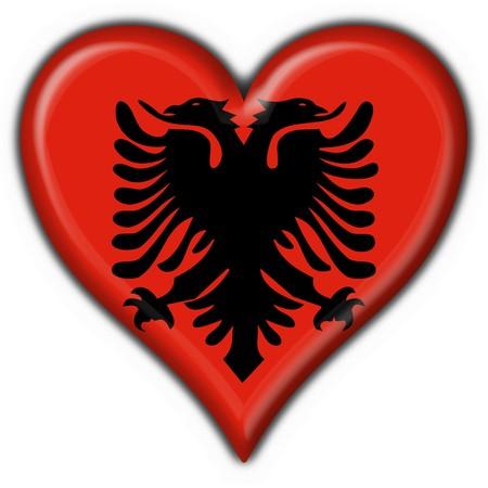 albanian button flag heart shape photo