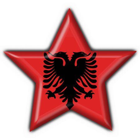 albanian button flag star shape photo