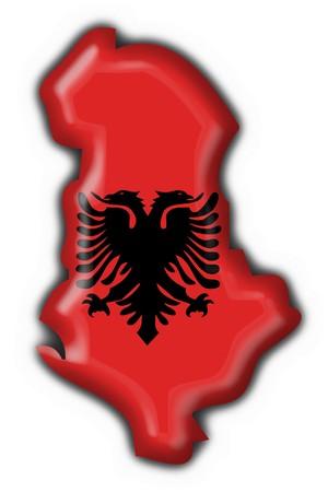 albanian button flag map shape photo