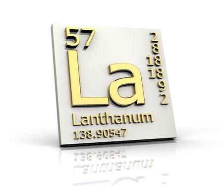 Lanthanum form Periodic Table of Elements photo