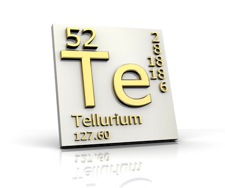 Tellurium form Periodic Table of Elements Stock Photo - 4398016