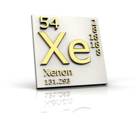 xenon: Xenon form Periodic Table of Elements