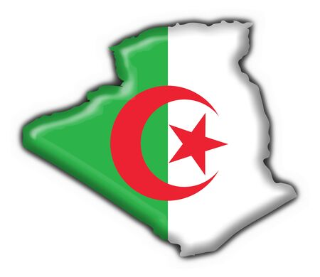 berber: Algeria button flag map shape